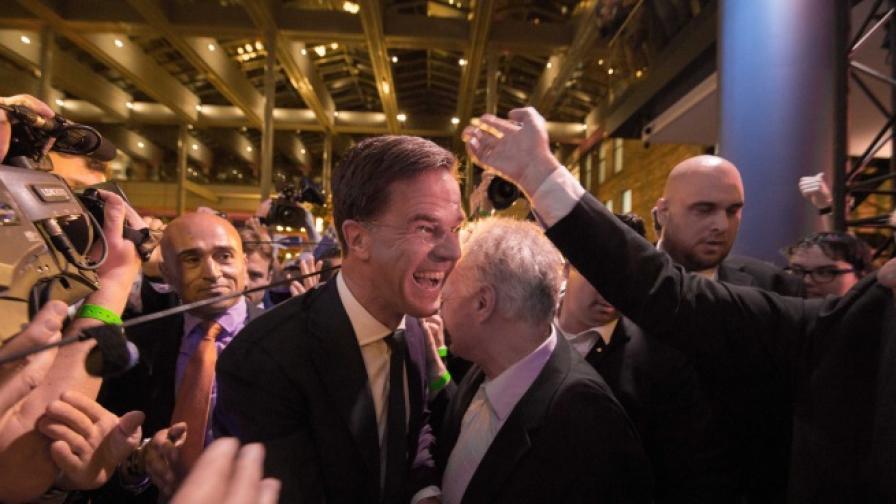 Марк Рюте в изборната нощ