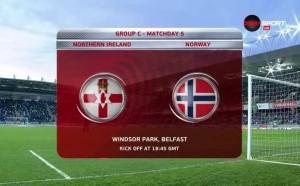 Северна Ирландия - Норвегия 2:0 /репортаж/