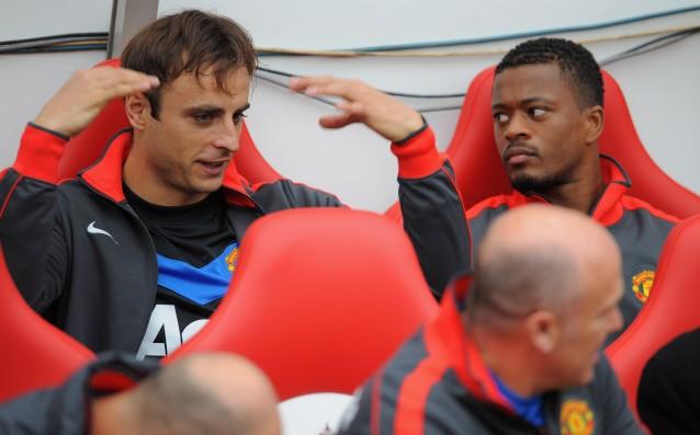 Димитър Бербатов и Патрис Евра, когато бяха в Юнайтед източник: Gulliver/Getty Images