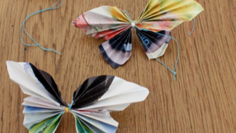 декорация хартиена украса пеперуда оригами как да