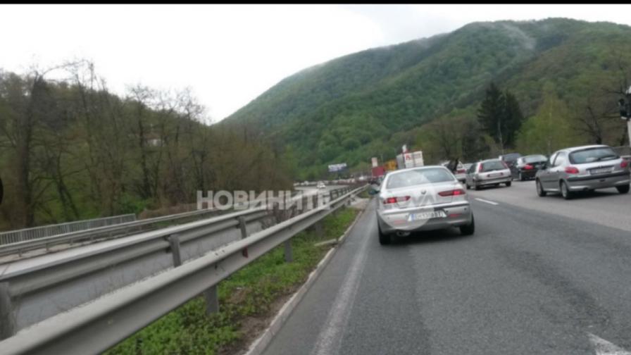 Задръствания и катастрофи при прибирането към София