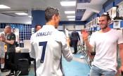 Хеттрикът на Роналдо честван и в съблекалнята