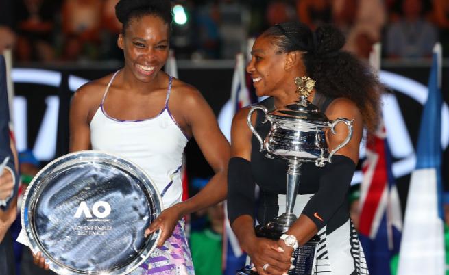 Серина Уилямс на финала на Откритото първенство по тенис на Австралия