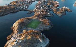 Най-смайващото футболно игрище на света