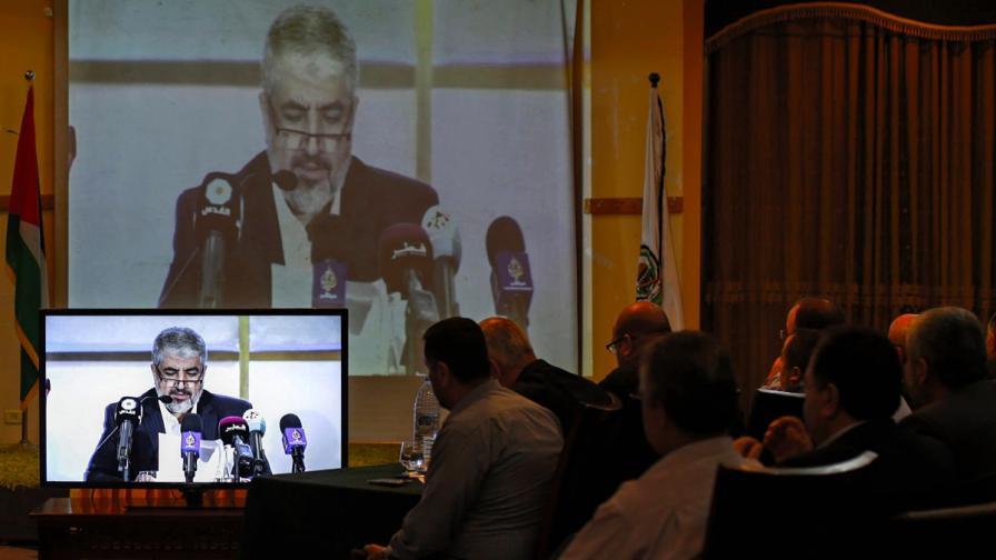 """Халед Мешал обявява новата политика на """"Хамас"""""""