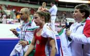 Биляна Дудова на финал на европейското по борба