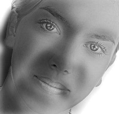 """""""Ревнивия младеж"""". Ако го гледате отблизо ще видите красива млада дама, но ако се отдалечите от монитора - ще разпознаете разгневен младеж.Създадено от Майкъл Сибърнсън и основано на работата на Филип Г. Шинс и Оди Олива от Масачузетския технологичен институт, изображението използва разликите в перцепцията, определени от разстоянието. Техниката е употребявана в много други различни картинки, наричани """"хибридни изображения""""."""