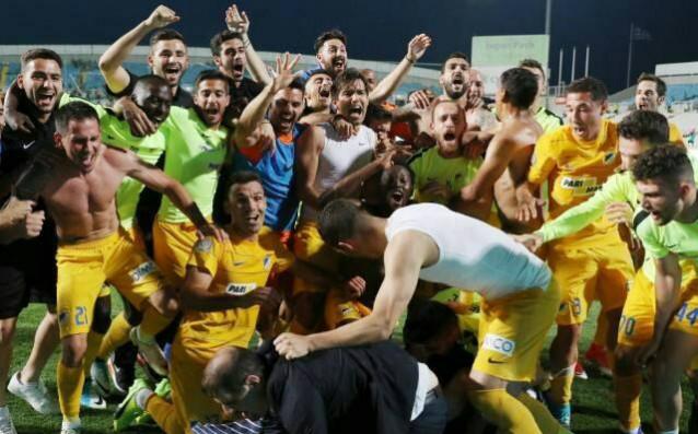 Живко Миланов и АПОЕЛ ликуват в Кипър<strong> източник: Gong.bg</strong>