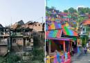 """Как едно село бе """"погълнато от дъгата"""" (снимки)"""
