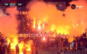 Димки и факли за утеха на феновете на Левски