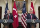 Среща между турският президент Реджеп Ердоган и американският му колега Доналд Тръмп (архив)