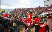 Бурна радост за футболистите на ЦСКА в съблекалнята