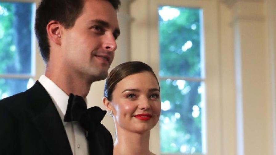 Миранда Кър се омъжи за милиардера Еван Шпигел