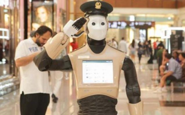 Полицейският робот Реем източник: twitter.com/PALRobotics
