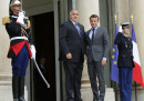 Среща на президента Бойко Борисов с френския президент Макрон в Елисейския дворец