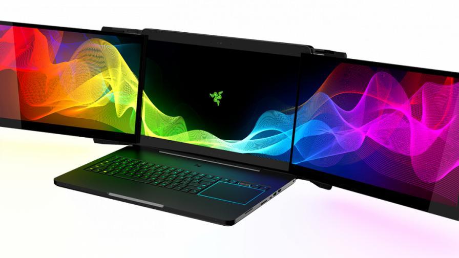 Razer разработва лаптоп с три дисплея