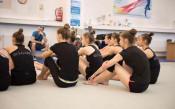 Илиана Раева посети гимнастичките преди лагера им в Япония<strong> източник: facebook.com/BGRGfederation</strong>