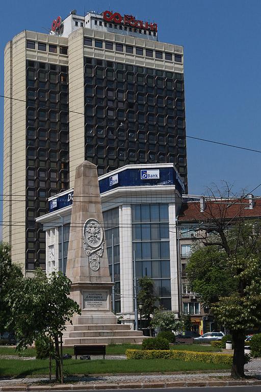 """Някогашният първенец по височина в София - хотел """"Родина"""" с неговите 104 метра"""