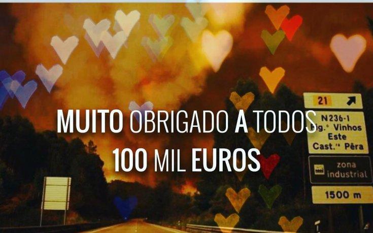 Вилаш-Боаш дари 100 хиляди на пострадалите в Португалия