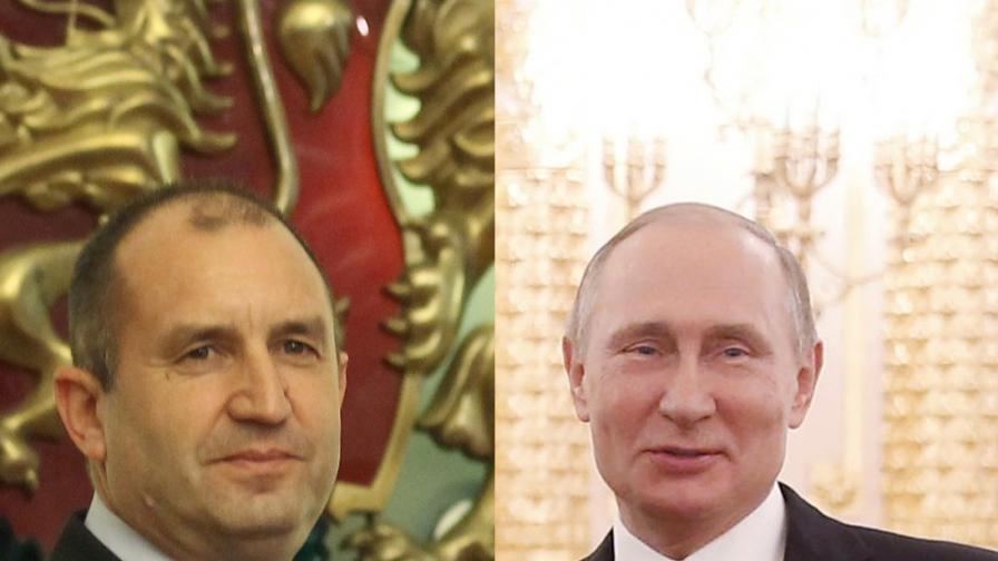 Путин и Радев се поздравиха, руският президент у нас за 3 март