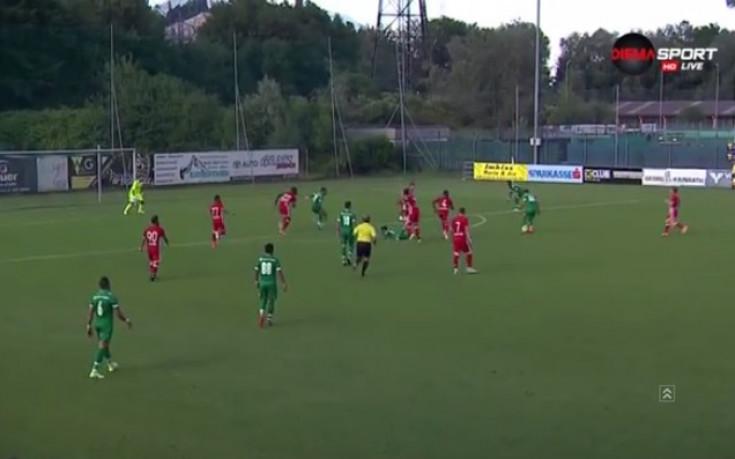 Лудогорец допусна първи гол в класна проверка с Олимпиакос