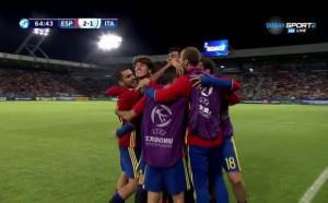 Брутален топовен изстрел на Нигес и 2:1 за Испания
