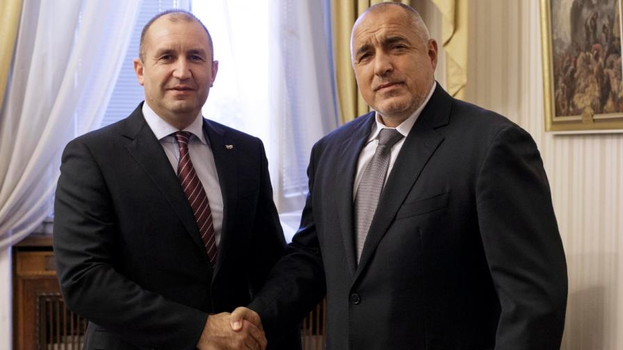 Румен Радев и Бойко Борисов: Трябва да работим заедно