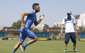 Първата тренировка на Гомес със синия екип