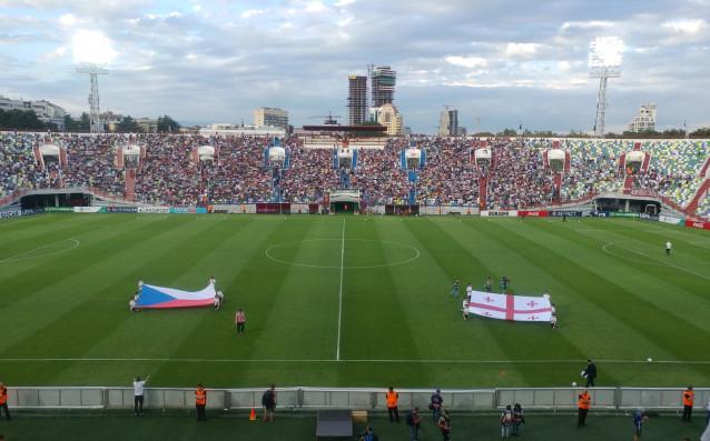 Атмосферата преди Чехия-Грузия източник: twitter.com/UEFAcomAndrewH