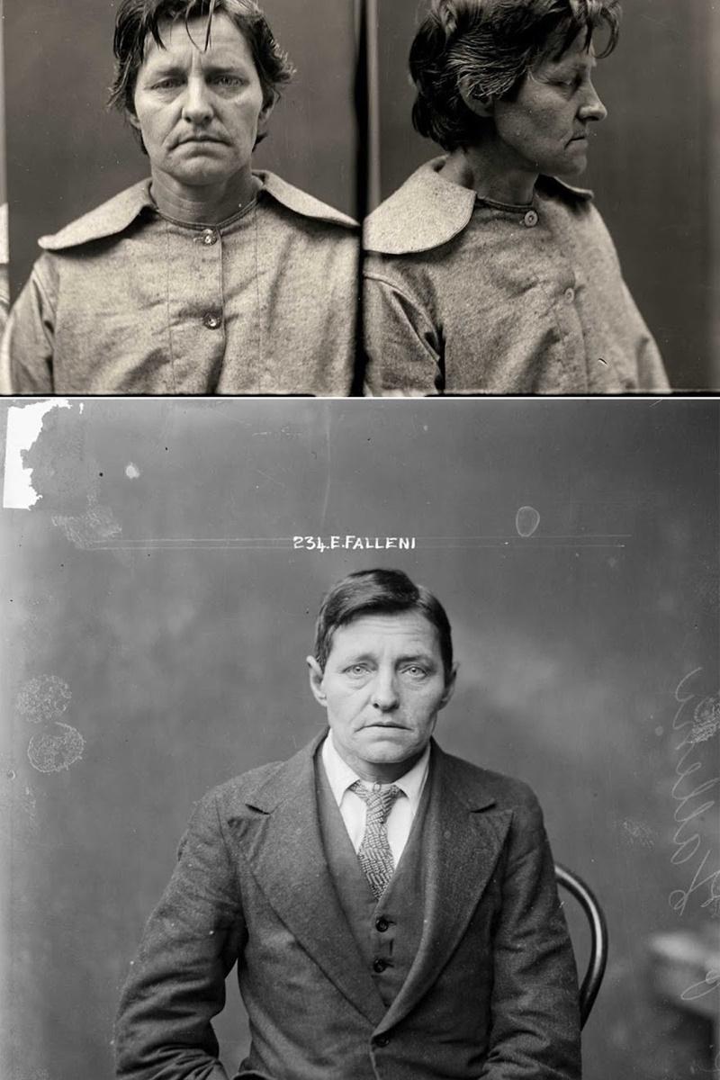 Евгения Фалени, около 35-годишна, прекарва по-голямата част от живота си преобразена като мъж. През 1913 г. тя се жени за вдовицата Ани Биркет, която убива.