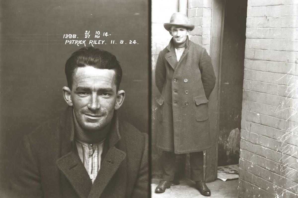 Патрик Райли е осъден през октомври 1924 г. за произвеждане на фалшиви монети и притежание на машина за производството им.