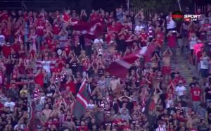 Супер атмосфера преди ЦСКА - Лудогорец на Армията