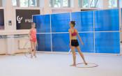 Бурен ден в залата по художествена гимнастика
