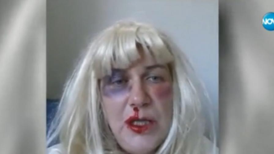Татяна Кристи в кадър от видеото, в което осмива Динко