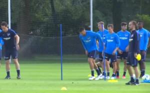 Херта Берлин тренира преди юбилейния мач с Ливърпул