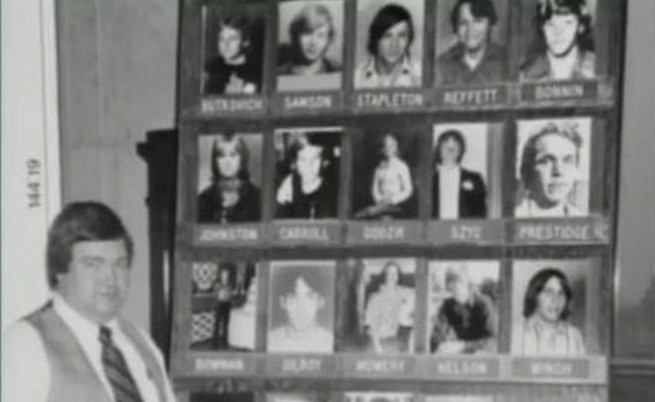 Част от идентифицираните до 1980 г. жертви.