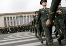 Китайски войници по време на честванията на 90-годишнината на армията в Пекин