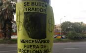 Феновете на Барса разлепиха листовки срещу предателя Неймар