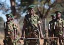 (архив) Деца във военни униформи по време на чествания на Деня на африканското дете в Зимбабве