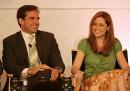 Стив Карел и Джена Фишър от The Office на организирано от NBC събитие през 2006.