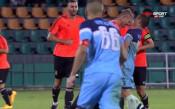 Жесток удар по съперник и дъжд от червени картони на стадиона в Ловеч