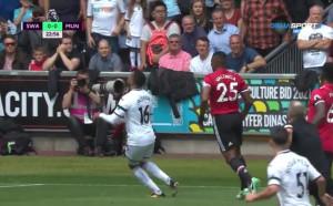 Суонси - Манчестър Юнайтед 0:1 /първо полувреме/