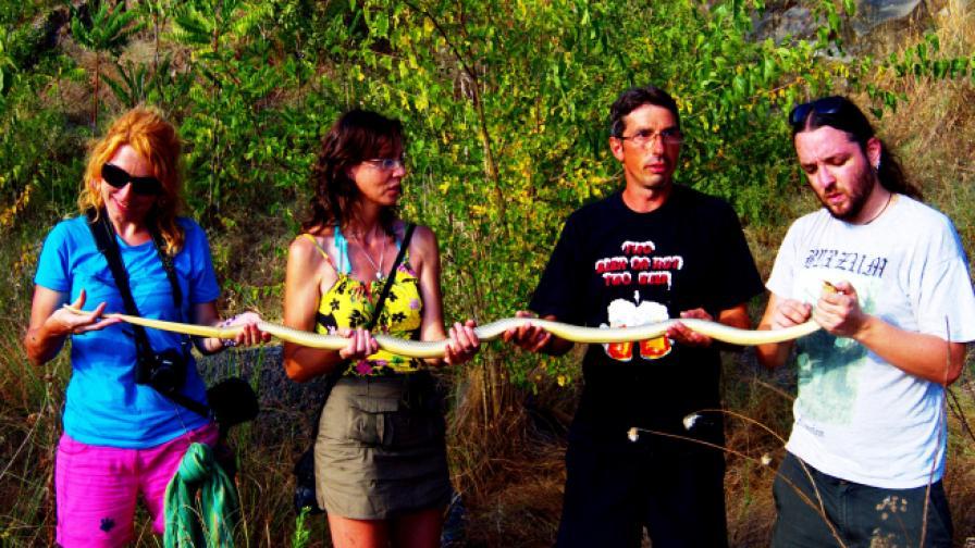Откриха най-дългата змия край Бургас (снимки)