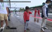 Маса - джуниър показа футболни умения на пистата