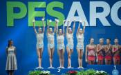 Ансамбълът на България взе сребро от многобоя на Световното в Пезаро<strong> източник: facebook.com/BGRGfederation, Анна Недкова</strong>