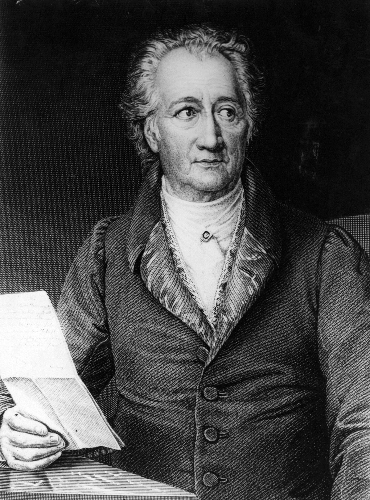 """Йохан Волфганг фон Гьоте - В молбата си за прием в масонска ложа Гьоте пише през 1780 г. следното: """"От много време насам се чувствам подтикнат от желанието да принадлежа към общността на масоните. (...) Тази титла ще ми позволи да вляза в по-тясна връзка с личности, които ценя високо. Именно това чувство за принадлежност ме тласка да подам молба за прием""""."""