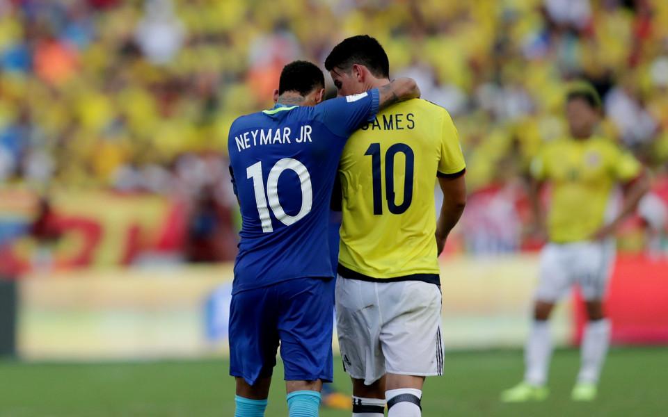 Звездният сблъсък Колумбия-Бразилия без победител
