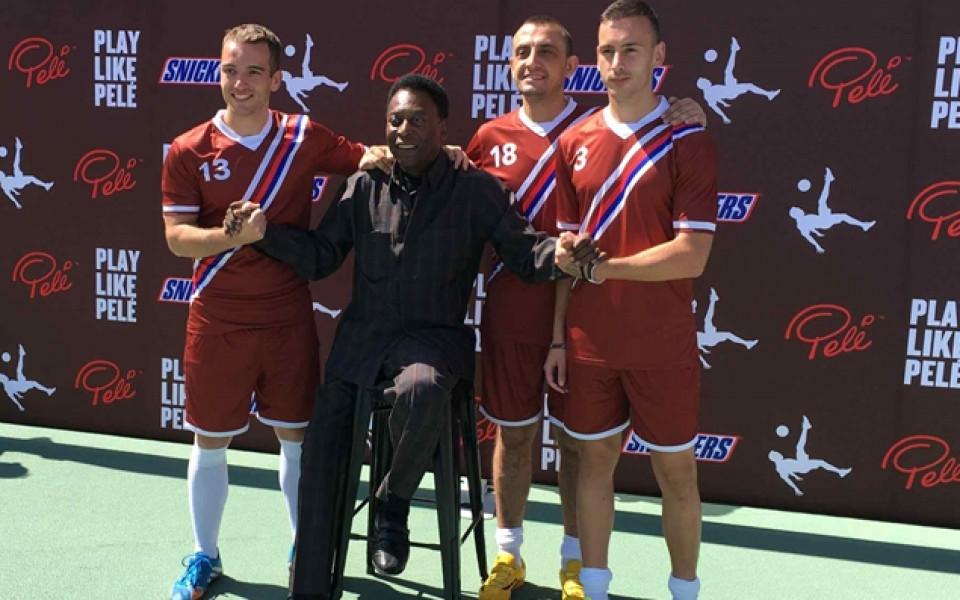 Трима българи тренираха заедно с Краля на футбола