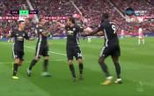 Лукаку с гол №150 в кариерата си, Юнайтед поведе на Стоук