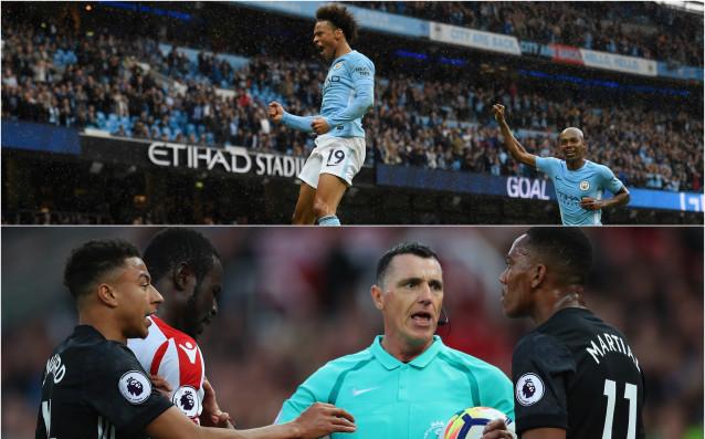 Манчестър Юнайтед и Манчестър Сити вече са с равни точки на върха. източник: Gulliver/Getty Images